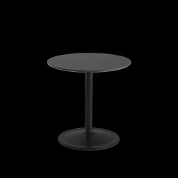 Muuto SOFT SIDE Stolik Okrągły 48 cm Czarny / Blat 48 cm Nanolaminat
