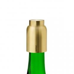 Stelton COLLAR Korek Próżniowy do Butelki Wina/Szampana Złoty