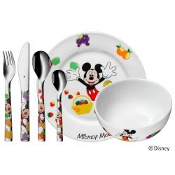 WMF Zestaw dla Dzieci - Sztućce + Porcelana 6 El. - MYSZKA MIKI