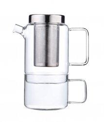 Bredemeijer SALERNO Dzbanek 750 ml z Zaparzaczem i Kubkiem do Herbaty