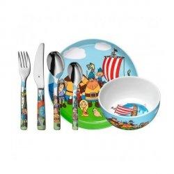WMF Zestaw dla Dzieci - Sztućce + Porcelana 6 El. Rybka WICKIE