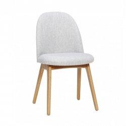Hübsch ASH Krzesło Tapicerowane - Jasnoszare
