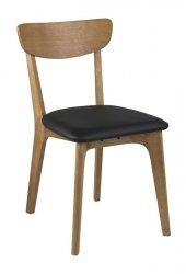 Villa Collection NORDIC Krzesło Dębowe z Czarnym Siedziskiem