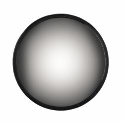 Villa Collection MIRROR Okrągłe Lustro Ścienne z Przyciemnianą Taflą 30 cm Czarne