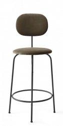 Menu AFTEROOM Krzesło Barowe 92 cm Hoker Czarny Tapicerowany - Tkanina City Velvet CA7832/078
