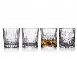 Lyngby Glass CLEAR Kryształowe Szklanki do Whisky, Drinków 340 ml 4 Szt.