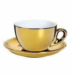 Cilio ROMA Filiżanka ze Spodkiem do Kawy 100 ml Złota