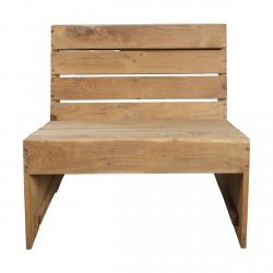 House Doctor WOODIE Lounge Chair - Fotel Ogrodowy z Drewna Tekowego