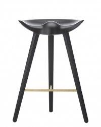 by Lassen ML42 Krzesło Barowe -- Hoker 69 cm Czarny / Poprzeczka Złota