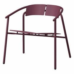 Aytm NOVO Krzesło Stalowe Lounge - Bordowe