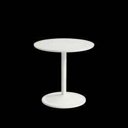 Muuto SOFT SIDE Stolik Okrągły 48 cm Biały / Blat 48 cm Linoleum