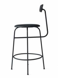 Menu AFTEROOM Stołek Krzesło Barowe 92 cm - Hoker Tapicerowany Czarny - Skóra Black