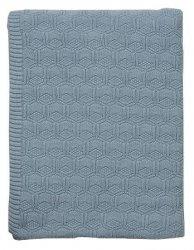 Sodahl DECO Bawełniany Pled - Koc 130x170 cm Niebieski Linen Blue