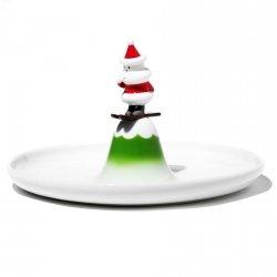 Alessi SCIA NATALINO! Świąteczny Talerz do Serwowania Ciasta, Cukierków
