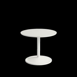Muuto SOFT SIDE Stolik Okrągły 40 cm Biały / Blat 48 cm Linoleum
