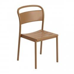 Muuto LINEAR SIDE Krzesło Metalowe - Pomarańczowe