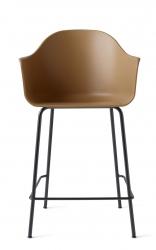 Menu HARBOUR Krzesło Barowe 102 cm Hoker Czarny - Siedzisko Khaki