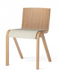 Menu READY Krzesło Drewniane Tapicerowane - Dąb Naturalny / Siedzisko Tkanina Hallingdal 200