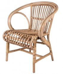 Broste Copenhagen ALONA Fotel - Krzesło Rattanowe