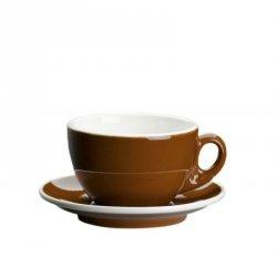 Cilio ROMA Filiżanka ze Spodkiem do Kawy Cappuccino - Brązowa