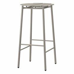 Aytm NOVO Hoker Stalowy - Krzesło Barowe 75 cm Taupe