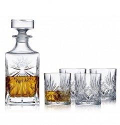 Lyngby Glass MELODIA Kryształowa Karafka i Szklanki do Whisky 310 ml 5 El.