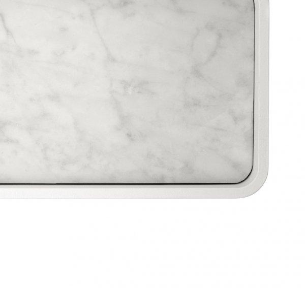 Menu BATH Półka Prysznicowa Biała z Marmurowym Blatem