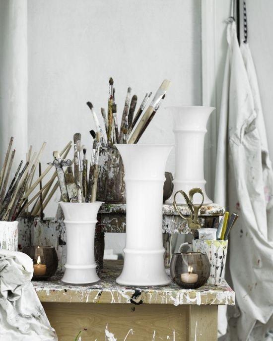 Holmegaard MB - Wazon Biały 17,6 cm