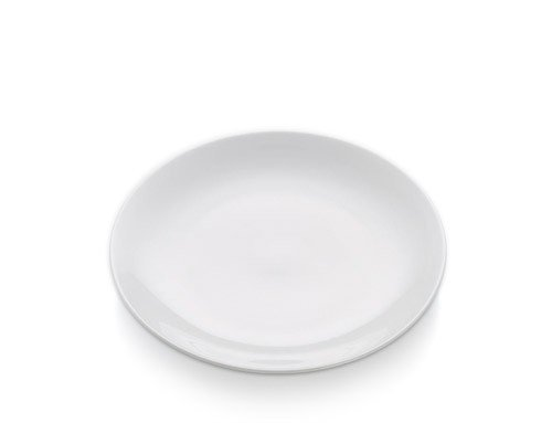 White Basics - Talerz Okrągły Płaski 23 cm