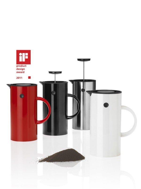 Stelton EM77 Zaparzacz Tłokowy do Kawy typu French Press - Czerwony