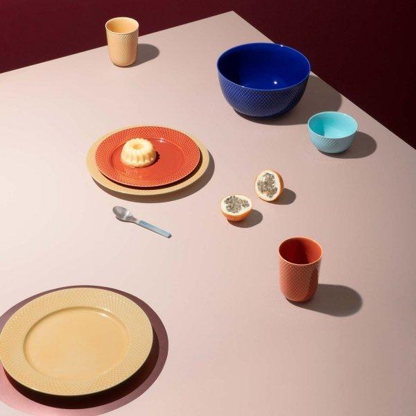 Lyngby Porcelain RHOMBE COLOR Miska 17,5 cm Niebieska