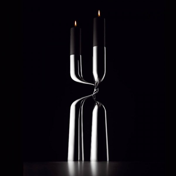 Menu DOUBLE Świecznik Podłogowy Dwuramienny XL 65 cm