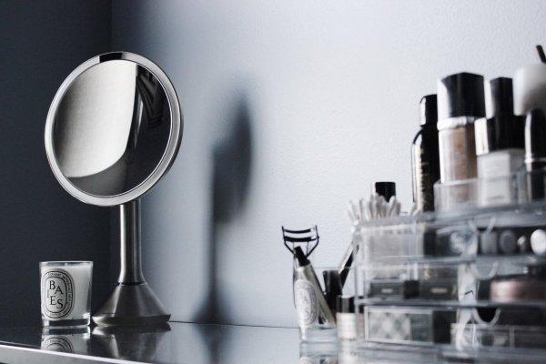 Simplehuman SENSOR Lustro Kosmetyczne do Makijażu - Powiększające, z Podświetleniem z Konrolą Natężenia Światła - Stal Matowa