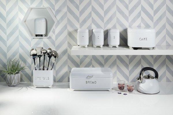 Kitchen Craft LOVELLO Chlebak - Pojemnik na Pieczywo - Biały