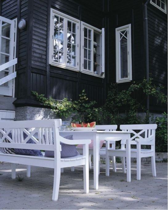 Skagerak DRACHMANN Krzesło - Fotel Ogrodowy - Białe