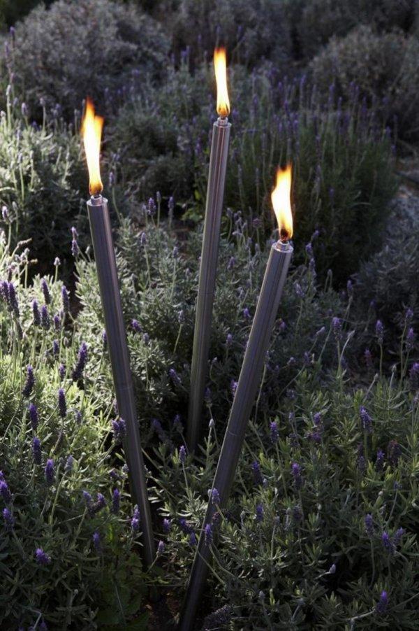 Blomus PALOS Pochodnia Ogrodowa - Lampa Oliwna Stalowa