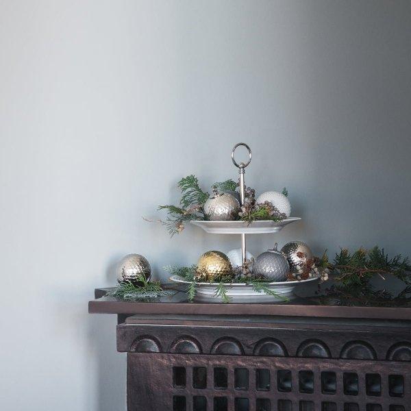 Lyngby Porcelain RHOMBE Bombka Porcelanowa - Nude