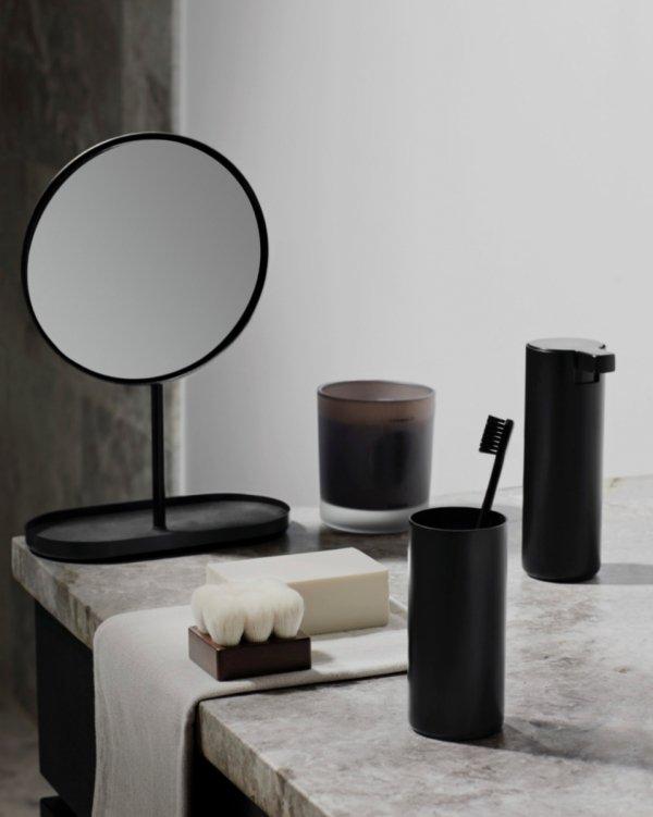Blomus MODO Wolnostojący Zestaw Toaletowy - Szczotka WC + Uchwyt na Papier - Czarny