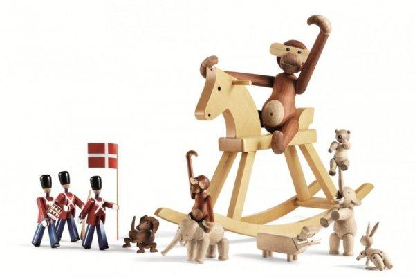 Kay Bojesen MONKEY Dekoracja - Figurka Drewniana Małpka Mała - Drewno Tekowe