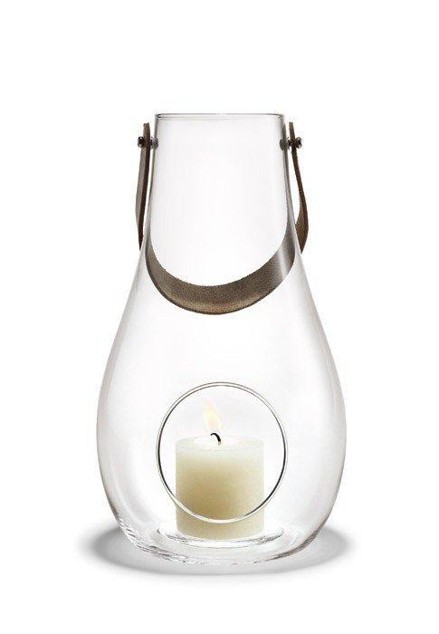 Holmegaard DESIGN WITH LIGHT Lampion - Świecznik Transparentny 16 cm