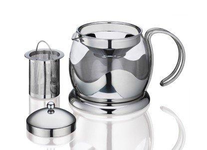 Kuchenprofi - Stalowy Dzbanek do Herbaty z Filtrem 1,25 l