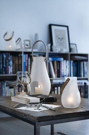 Holmegaard DESIGN WITH LIGHT Lampion - Świecznik Transparentny 29 cm