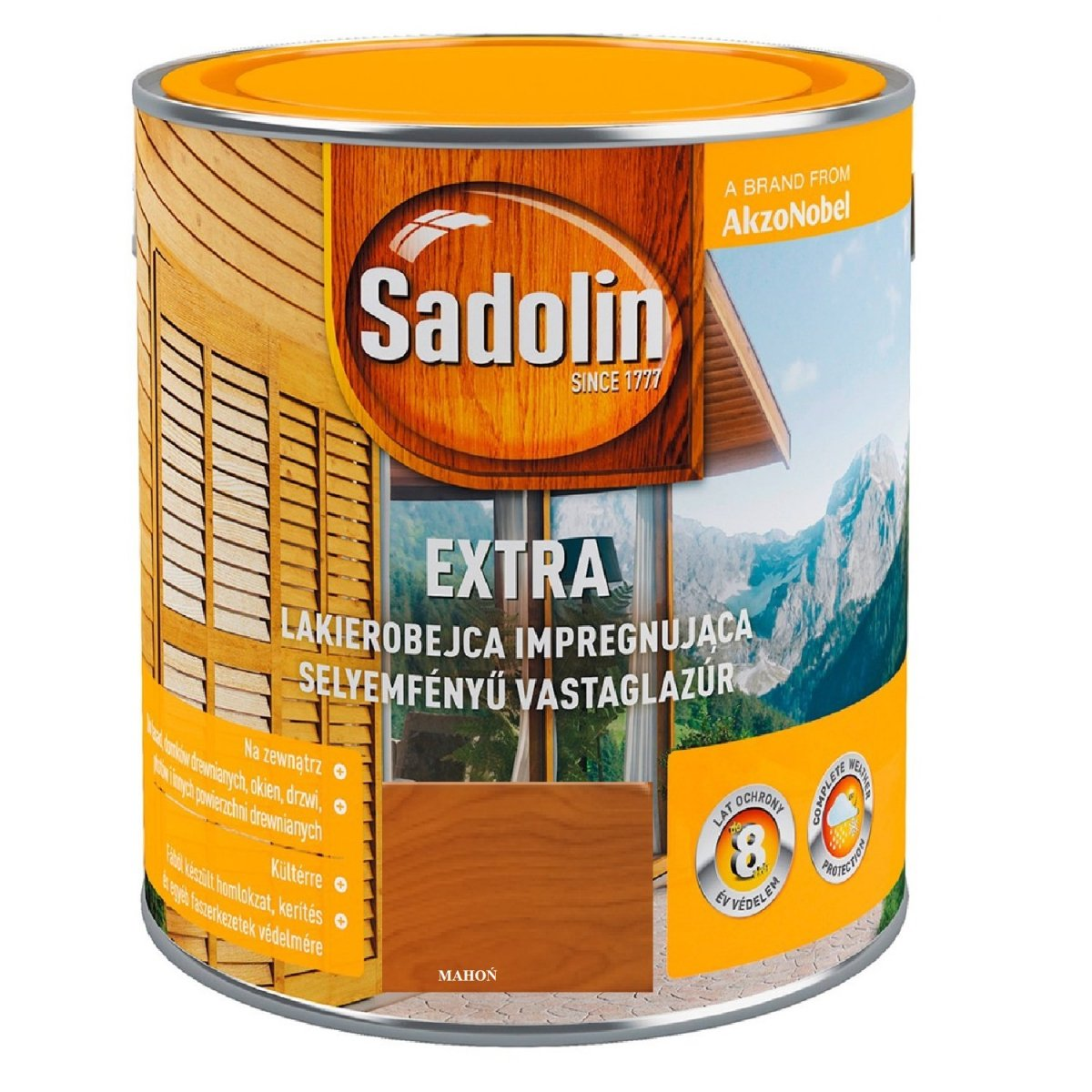 953246b085a90f SADOLIN LAKIEROBEJCA EXTRA MAHOŃ 2,5l - LAKIEROBEJCE - DO DREWNA ...