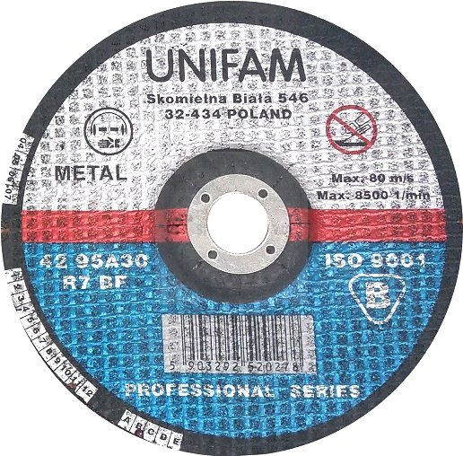 Tarcza do metalu 180x2,5 UNIFAM