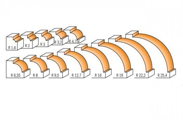 FREZ ZAOKRĄGLAJĄCY R-3,2 D-19,1 S-8 CMT 939.190.11