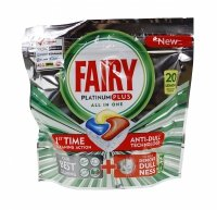 Fairy Platinum Plus Lemon kapsułki do zmywarki 20 szt.