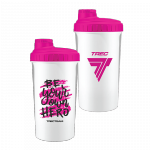 Trec Shaker 0,7 l WHITE-PINK - BE YOUR OWN HERO