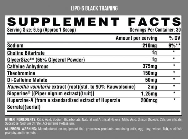Nutrex Lipo 6 Black Training 30 serv
