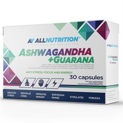 All Nutrition Ashwagandha 300mg + Guarana 30 caps