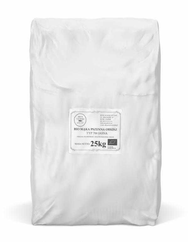 Mąka pszenna orkiszowa typ 700 (jasna) BIO - 25kg
